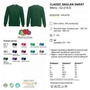 Реглан-толстовка 'Sweat' L-062216